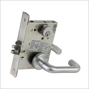Schlage Commercial L-Series Mortise Lock w/ 03 Lever & Rose Trim
